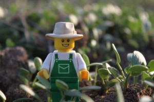 The Lego Farmer's first photoshoot SUPPLIED: LITTLE BRICK PASTORAL UPDATED THU FEB 09 13:06:15 EST 2017 Email Facebook Twitter WhatsApp Aimee Snowden launched the Lego Farmer in 2014 with this photo of the farmer in the sprouting clover.
